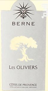 Berne Les Oliviers - Château de Berne - 2018 - Blanc