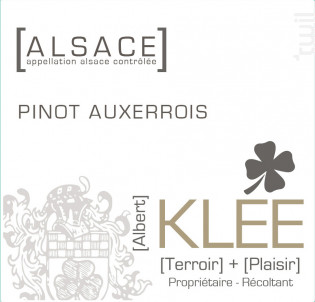 Pinot Auxerrois - Albert Klee - 2018 - Blanc