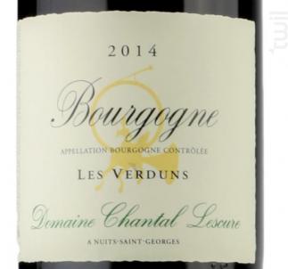 BOURGOGNE Les Verduns - Domaine Chantal Lescure - 2015 - Rouge