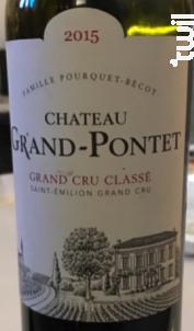 Château Grand Pontet - Château Grand-Pontet - 2015 - Rouge