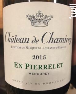 Mercurey En Pierrelet - Château de Chamirey - 2015 - Blanc