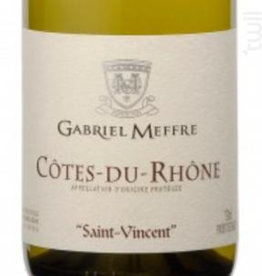 Saint Vincent - Maison Gabriel Meffre - 2017 - Blanc