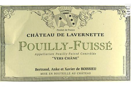 Pouilly Fuissé - Vers Châne - Château de Lavernette - 2017 - Blanc
