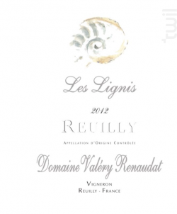 Reuilly Les Lignis - Domaine Valéry Renaudat - 2016 - Blanc