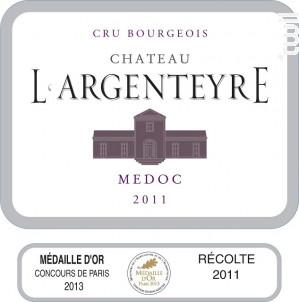 Château L'Argenteyre - Vignobles Reich - Château l'Argenteyre - 2011 - Rouge