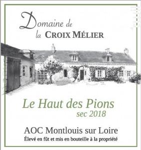 Montlouis-sur-Loire Sec Le Haut des Pions - Domaine de la Croix Mélier - 2018 - Blanc