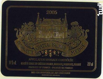 Château Palmer - Château Palmer - 2005 - Rouge