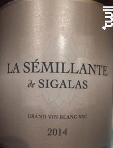 La Sémillante de Sigalas - Château Sigalas Rabaud - 2016 - Blanc