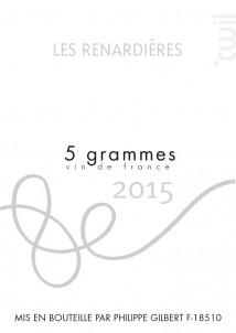 Les Renardières - Domaine Philippe Gilbert - 2015 - Blanc
