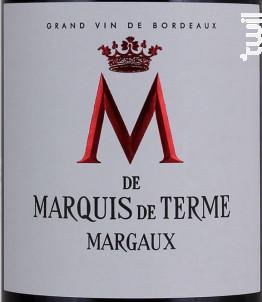 M de Marquis de Terme - Château Marquis de Terme - 2012 - Rouge