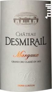 Château Desmirail - Denis Lurton - Château DESMIRAIL - 2012 - Rouge