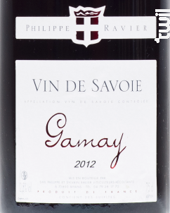 Gamay - Domaine RAVIER Philippe - 2016 - Rouge