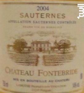 Château Fontebride - Château Fontebride - 2004 - Blanc