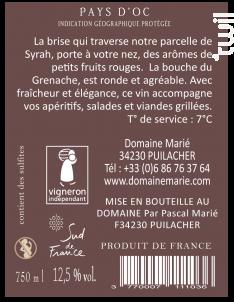 Callades Rousses - Domaine Marié - 2020 - Rosé