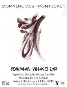Beaujolais Villages - Domaine des Frontières - 2018 - Rouge
