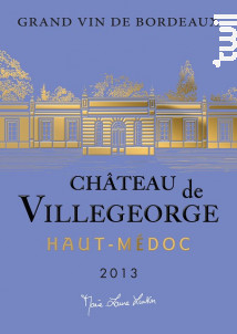 Château de Villegeorge - Château de Villegeorge - 2013 - Rouge
