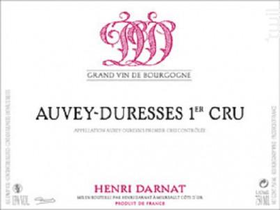 Auxey-Duresses Premier Cru - Domaine Henri Darnat - 2015 - Rouge