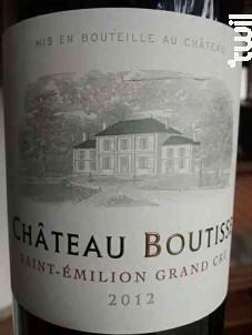 Château Boutisse - Château Boutisse - 2012 - Rouge