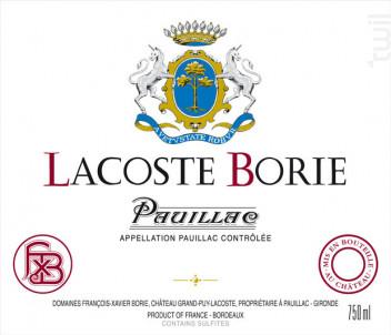 Château Lacoste Borie - Château Grand-Puy-Lacoste - 2017 - Rouge