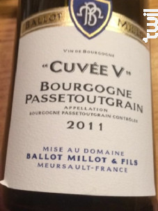 Bourgogne Passetoutgrain - Domaine Ballot-Millot - 2016 - Rouge