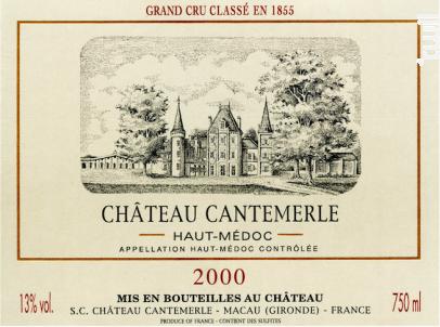 Château Cantemerle - Château Cantemerle - 2000 - Rouge