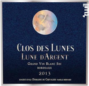 Lune d'Argent - Clos des Lunes - 2013 - Blanc