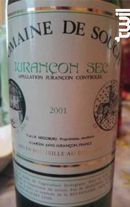 Jurançon Sec - Domaine de Souch - 2013 - Blanc
