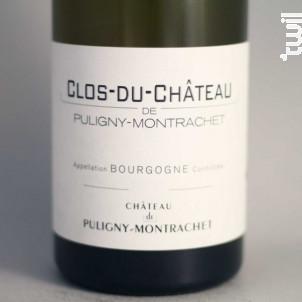 Bourgogne Clos-du-Château - Château de Puligny-Montrachet - 2011 - Blanc