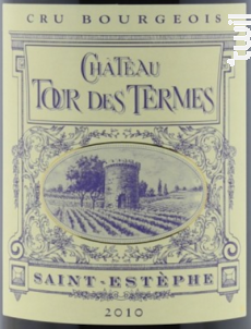Château Tour Des Termes - Château Tour des Termes - Famille Anney - 2010 - Rouge