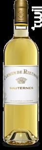 Carmes de Rieussec - Domaines Barons de Rothschild - Château Rieussec - 2017 - Blanc
