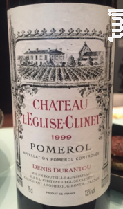 Château l'Eglise Clinet - Château l'Eglise-Clinet - 1999 - Rouge