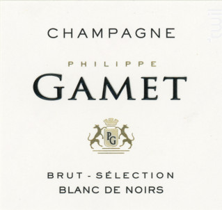 Brut Sélection Blanc de Noirs - Champagne Gamet - Non millésimé - Effervescent