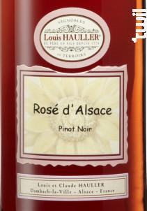 Rosé d'Alsace Pinot Noir - Louis Hauller - Non millésimé - Rosé