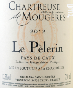 Le Pélerin - Chartreuse de Mougères - 2015 - Rouge