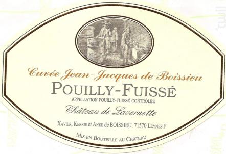 Cuvée Jean-Jacques de Boissieu - Château de Lavernette - 2017 - Blanc