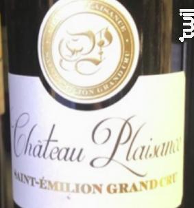 Château Plaisance - Château Plaisance - 2017 - Rouge