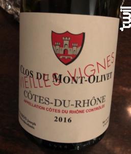 Vieilles Vignes - Clos Du Mont-olivet - 2017 - Rouge