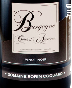 Bourgogne Côtes d'Auxerre - Domaine Sorin Coquard - 2017 - Rouge
