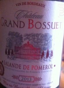 Château Grand Bossuet - Château Bossuet - 1989 - Rouge