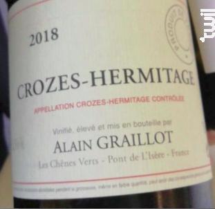 Crozes-Hermitage - Domaine Alain Graillot - 2018 - Rouge