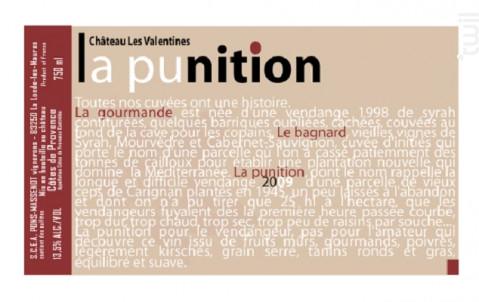 La Punition - Château les Valentines - 2017 - Rouge