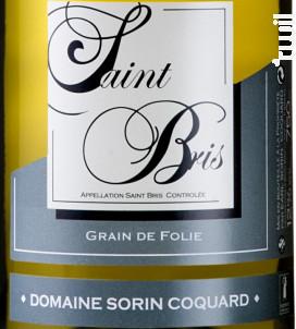 Saint-Bris Grain de Folie - Domaine Sorin Coquard - 2018 - Blanc