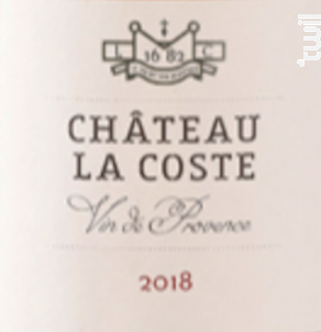 Château Rosé - Chateau La Coste - 2018 - Rosé