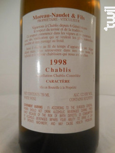Chablis Caractère - Domaine Moreau-Naudet - 1998 - Blanc