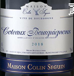 Coteaux Bourguignons - Terroir - Maison Colin Seguin - 2016 - Rouge