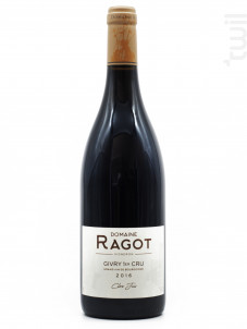 Givry 1er Cru  Clos Jus - Domaine Ragot - 2016 - Rouge
