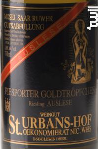 Piersporter Goldtröpfchen Riesling Auslese - Sankt Urbans-Hof - 2011 - Blanc