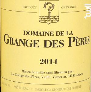 Domaine de la Grange des Pères - LA GRANGE DES PERES - 2014 - Rouge