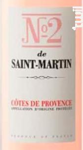 Le N°2 de Saint Martin - Château de Saint-Martin - 2020 - Rosé