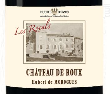 Les Rocals - Château de Roux - 2016 - Rouge